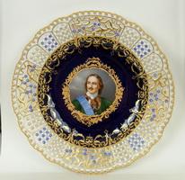 Тарелка с портретом императора Петра I (Мейсен, 1910 г.)