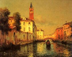 Гoндола в Веницианском канале (Б. Ноэль)