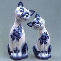 Фигурки кошек (гжель)