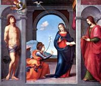 Благовещение Марии. Работа 1508 года